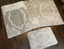 ROMANY GYPSY WASHABLE MATS FULL SETS OF 4 MATS/RUGS X LARGE 100X140CM NEW SILVER